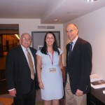 Alan Plotkin and Dr. Niedrach with Senator Vitale's top aide Laurie