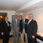 (From Left) NJPCAC Board Member Alan Plotkin, Assemblyman David Wolfe, Dr. Bill Niedrach (Delaware Valley Urology) and Assemblyman Scott Rudder